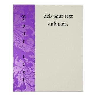elegant, purple ,vintage, floral ,damask,beautiful flyers