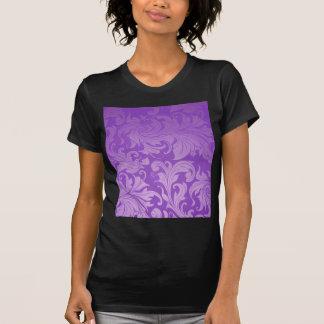 elegant, purple ,vintage, floral ,damask,beautiful t shirt