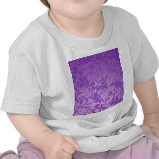 elegant, purple ,vintage, floral ,damask,beautiful t-shirts