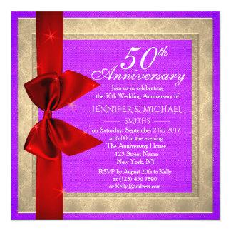 Elegant Purple Wedding Anniversary Invite