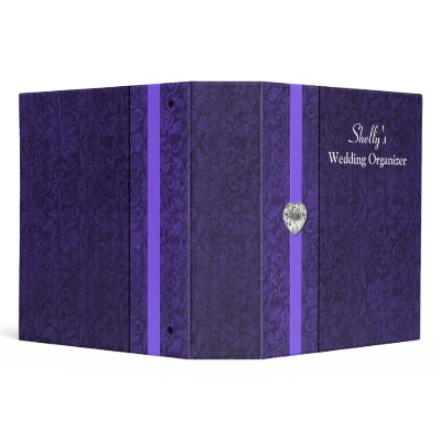 Elegant Purple Wedding Organizer Binder by DizzyDebbie