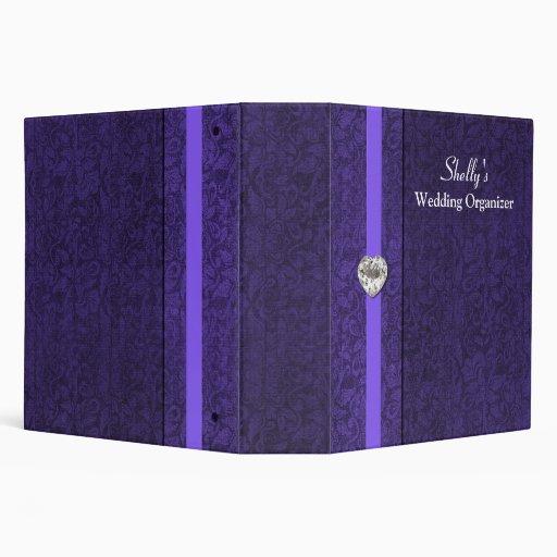 Elegant Purple Wedding Organizer Binder