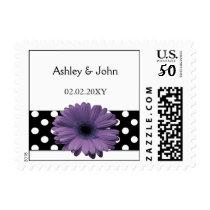 Elegant Purple Wedding postage Stamps