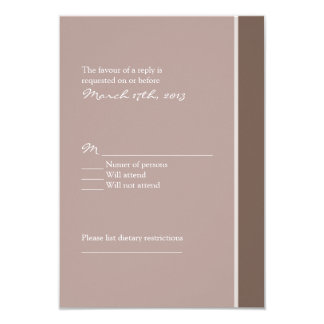 Elegant Purple Wedding RSVP Card