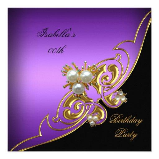 Elegant Black And Gold Birthday Invitations | Party Invitations Ideas