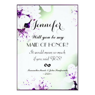 Elegant Purple & White Lilies on Soft Green 5x7 Paper Invitation Card