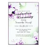 Elegant Purple & White Lilies on Soft Green Card
