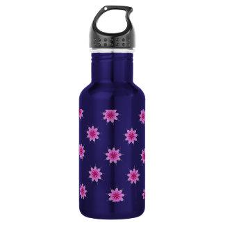 Elegant Radiant Orchid Kaleidoscope Water Bottle