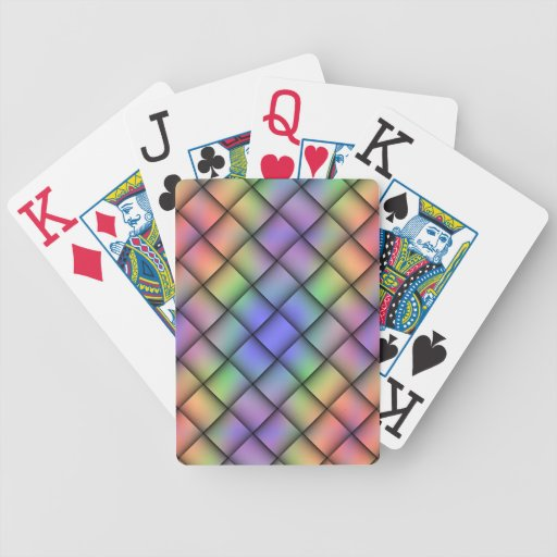 Elegant Rainbow Colored Card - Diagonal Weave2 Bicycle Playing Cards