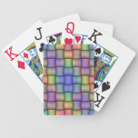 Elegant Rainbow Colored Card - Horizontal Weave Bicycle Playing Cards