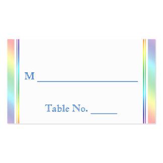 Elegant Rainbow Floral Gay Wedding Place Cards Business Card