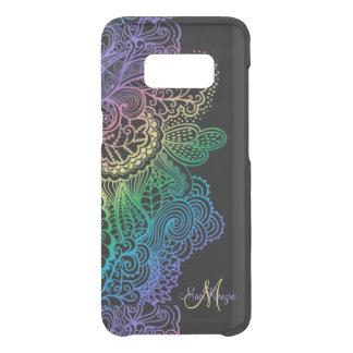 Elegant Rainbow Lace Monogram On Black Uncommon Samsung Galaxy S8 Case