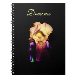 Elegant Rainbow Sunset Iris Photo Spiral Notebook