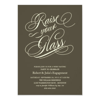 Elegant Raise Your Glass Party Invitations