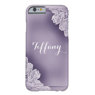 Elegant Raised Floral Barely There iPhone 6 Case