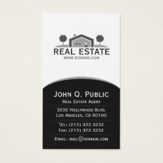 Elegant Real Estate Business Card at Zazzle