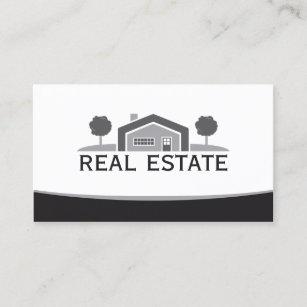 Realtor logo gifts on zazzle elegant real estate house logo realtor business card colourmoves
