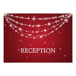 Elegant Reception Sparkling Chain Red Invitations
