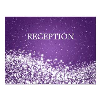 Elegant Reception Sparkling Wave Purple Card