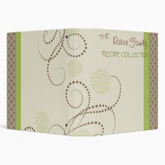 Elegant recipes 3 ring binder