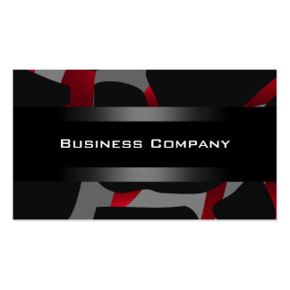 Elegant Red Abstract Black Business Card Company Business Cards