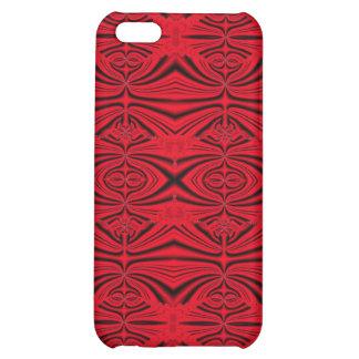 elegant red and black iPhone 5C cases
