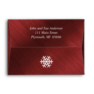 Elegant Red and White Believe Christmas Envelope
