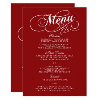 Elegant Red And White Wedding Menu Templates