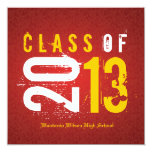 Elegant Red and Yellow Class of 2013 Custom Announcement