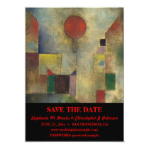 "Elegant ""Red Balloon"" Save the Date / Website Card"