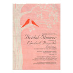 Elegant Red Birds Bridal Shower Invitations Personalized Announcements