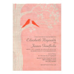 Elegant Red Birds Wedding Invitations Invite