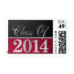 Elegant Red & Black Class of 2014 Postage