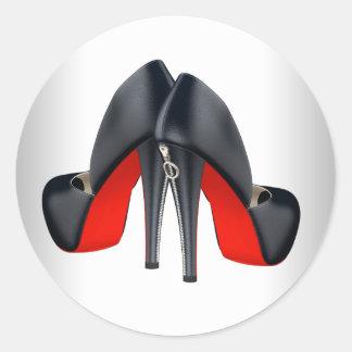 Elegant Red Black High Heel Shoe Stickers