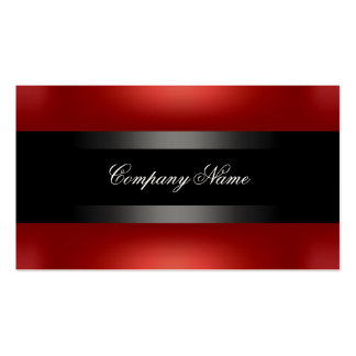 Elegant Red Black Indestructible Double-Sided Standard Business Cards (Pack Of 100)