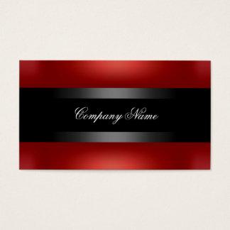Elegant Red Black Indestructible Business Card