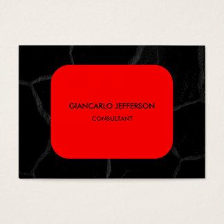 Elegant Red Black Stone Minimalist Professional Business Card
