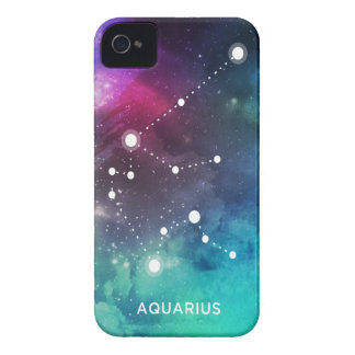 Elegant Red Blue Watercolor Nebula Aquarius Case-Mate iPhone 4 Case