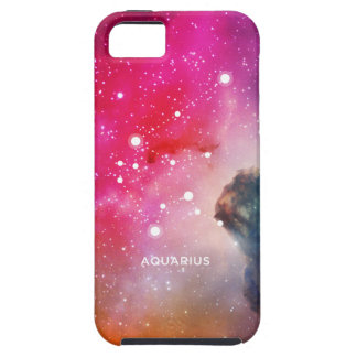 Elegant Red Blue Watercolor Nebula Aquarius iPhone SE/5/5s Case