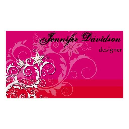 Elegant Red Business Card