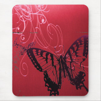 Elegant Red Butterfly Wedding Shower Mouse Pads