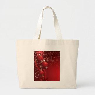 Elegant Red Christmas Jumbo Tote Bag