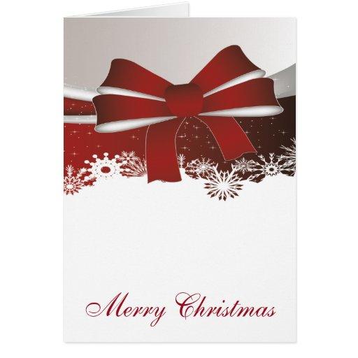 Elegant Red Christmas Bow 2 Greeting Card | Zazzle: zazzle.com/elegant_red_christmas_bow_2_greeting_cards...