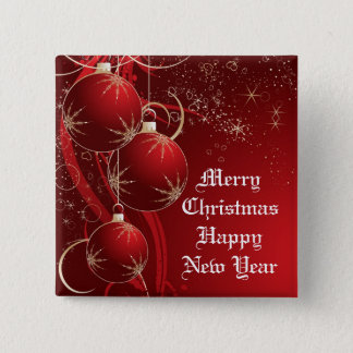 Elegant Red Christmas Button