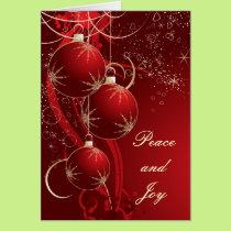 Elegant Red Christmas Card
