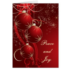 Elegant Red Christmas Card at Zazzle