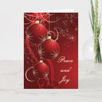 Elegant Red Christmas Holiday Card