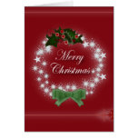 Elegant Red Christmas Wreath Cards