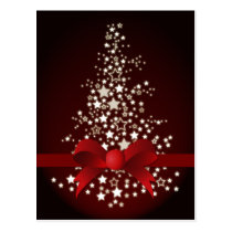 elegant red Corporate Christmas Greeting PostCards