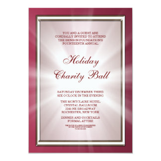 Elegant Red Corporate Party 5x7 Paper Invitation Card